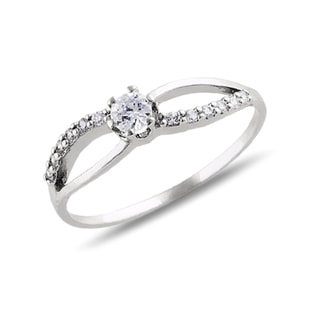 DIAMOND ENGAGEMENT RING IN 14KT WHITE GOLD - ENGAGEMENT DIAMOND RINGS - ENGAGEMENT RINGS