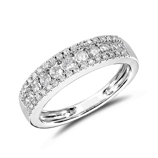 ANNIVERSARY DIAMOND RING IN 14KT WHITE GOLD - WHITE GOLD RINGS - RINGS
