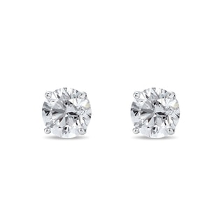 STUD EARRINGS WITH 0.5CT DIAMONDS IN 14KT GOLD - STUD EARRINGS - EARRINGS