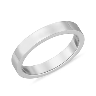 WOMEN'S WHITE GOLD BAND - RINGS FOR HER - WEDDING RINGS