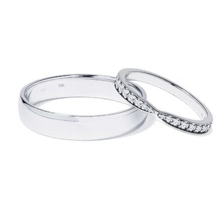 PLATINUM WEDDING RINGS WITH DIAMONDS - WHITE GOLD WEDDING RINGS - WEDDING RINGS