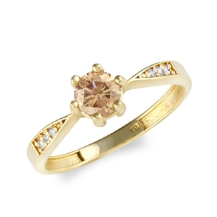 GOLD DIAMOND RING - FANCY DIAMOND ENGAGEMENT RINGS - ENGAGEMENT RINGS