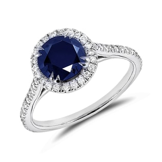 SAPPHIRE RING IN 14KT GOLD - ENGAGEMENT GEMSTONE RINGS - ENGAGEMENT RINGS