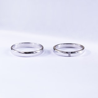 DIAMOND WEDDING RINGS IN 14KT WHITE GOLD - WHITE GOLD WEDDING RINGS - WEDDING RINGS