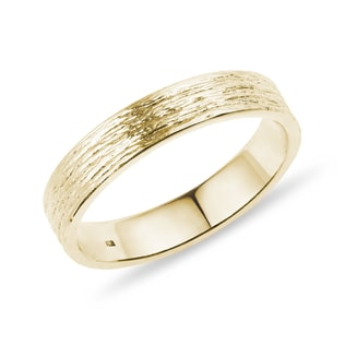 MEN'S WEDDING RING IN YELLOW GOLD - RINGS FOR HIM - WEDDING RINGS