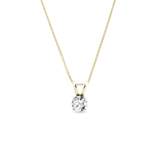 Diamond pendant in 14kt yellow gold