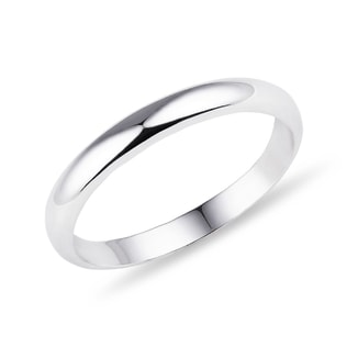 Women's wedding band in 14kt white gold