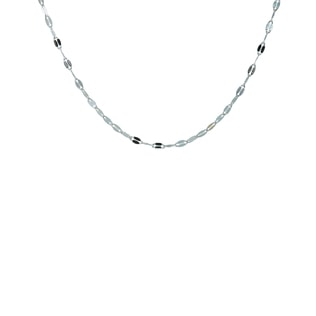 CHAIN IN 14KT WHITE GOLD - GOLD CURB CHAINS - PENDANTS