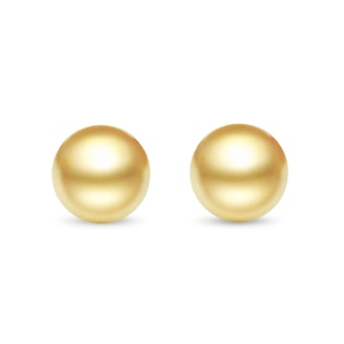 PEARL EARRINGS IN 14KT GOLD - SOUTH PACIFIC PEARLS JEWELLERY - PEARL JEWELLERY