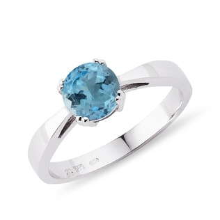 Topaz ring in sterling silver