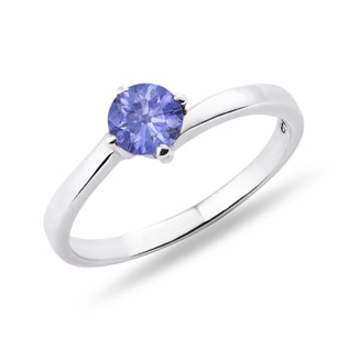 SILVER RING WITH TANZANITE - TANZANITE RINGS - RINGS