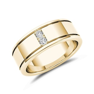 MEN'S DIAMOND GOLD RING - MEN'S RINGS - RINGS