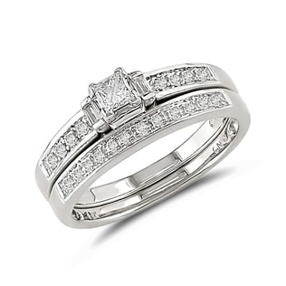 DIAMOND ENGAGEMENT AND WEDDING RINGS IN 14KT GOLD - ENGAGEMENT AND WEDDING MATCHING SETS - ENGAGEMENT RINGS