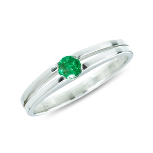 GOLDEN RING WITH EMERALD - EMERALD RINGS - RINGS
