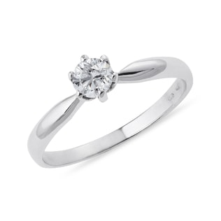 WHITE GOLD DIAMOND ENGAGEMENT RING - SOLITAIRE ENGAGEMENT RINGS - ENGAGEMENT RINGS