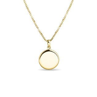 Gold necklace with locket