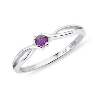Amethyst ring in 14kt gold
