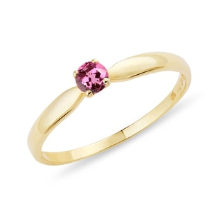 GOLD RING WITH TOURMALINE - TOURMALINE RINGS - RINGS