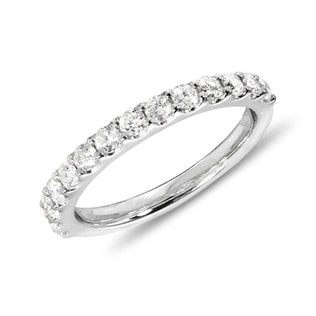 DIAMOND WEDDING RING IN 14KT WHITE GOLD - RINGS FOR HER - WEDDING RINGS