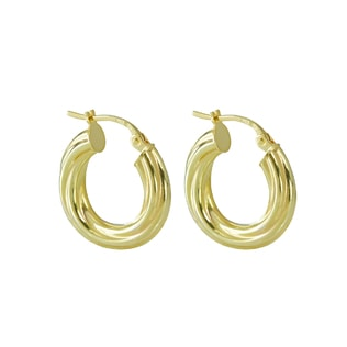 HOOP EARRINGS IN 14KT GOLD - YELLOW GOLD EARRINGS - EARRINGS