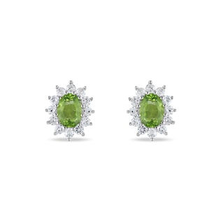 PERIDOT SILVER EARRINGS - PERIDOT EARRINGS - EARRINGS