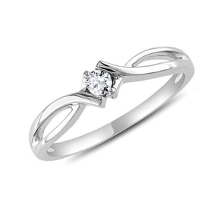 DIAMOND RING IN 14KT WHITE GOLD - WHITE GOLD RINGS - RINGS
