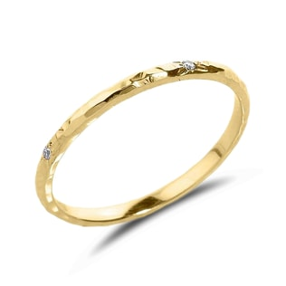 DIAMOND 14KT YELLOW GOLD RING - DIAMOND RINGS - RINGS