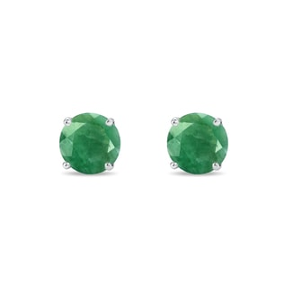 SILVER EMERALD EARRINGS - EMERALD EARRINGS - EARRINGS