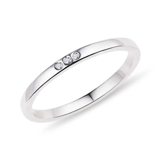 WEDDING RING MADE OF WHITE GOLD WITH DIAMONDS - RINGS FOR HER - WEDDING RINGS