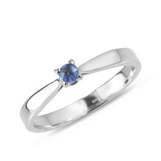 TANZANITE RING IN STERLING SILVER - TANZANITE RINGS - RINGS