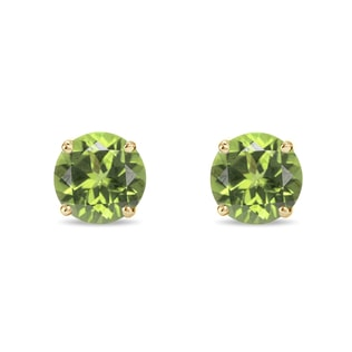 Peridot 14kt gold earrings
