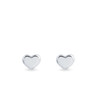 EARRINGS IN THE SHAPE OF HEARTS - MINIMALISTIC JEWELLERY - FINE JEWELLERY