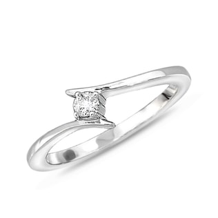 DIAMOND ENGAGEMENT RING IN 14KT WHITE GOLD - SOLITAIRE ENGAGEMENT RINGS - ENGAGEMENT RINGS