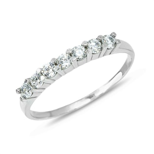 DIAMOND RING IN14KT WHITE GOLD - RINGS FOR HER - WEDDING RINGS