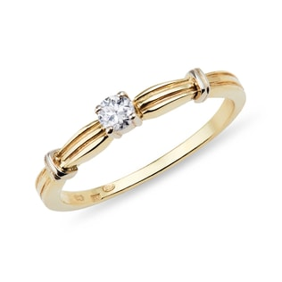 YELLOW GOLD ENGAGEMENT RING - SOLITAIRE ENGAGEMENT RINGS - ENGAGEMENT RINGS