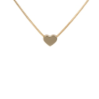 Heart necklace in 14kt yellow gold