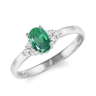 EMERALD RING IN WHITE GOLD - EMERALD RINGS - RINGS