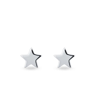 EARRINGS IN THE SHAPE OF A STAR - WHITE GOLD EARRINGS - EARRINGS