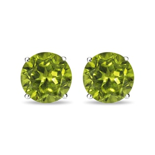 PERIDOT STUD EARRINGS IN 14KT GOLD - PERIDOT EARRINGS - EARRINGS