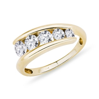 DIAMOND RING OF YELLOW GOLD - RINGS FOR HER - WEDDING RINGS