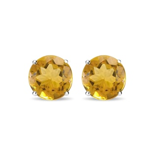 CITRINE EARRINGS IN 14KT GOLD - CITRINE QUARTZ EARRINGS - EARRINGS