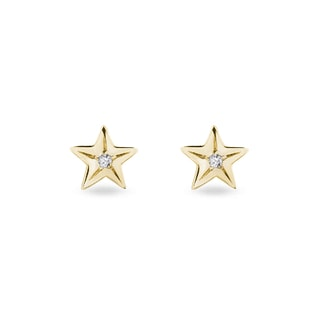 Diamond star earrings in 14kt gold