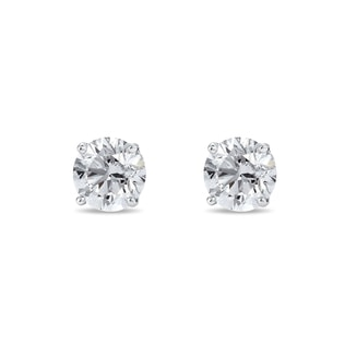 Stud earrings with 0.33ct white diamonds in 14kt gold