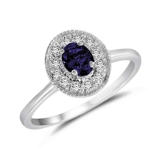 SAPPHIRE AND DIAMOND GOLD RING - SAPPHIRE RINGS - RINGS