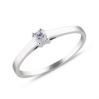 DIAMOND SOLITAIRE ENGAGEMENT RING IN 14KT SOLID GOLD - SOLITAIRE ENGAGEMENT RINGS - ENGAGEMENT RINGS