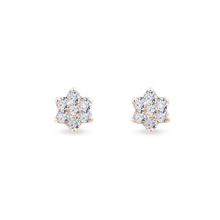 Diamond earrings in rose gold