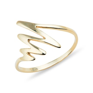 RING IN 14KT YELLOW GOLD - YELLOW GOLD RINGS - RINGS