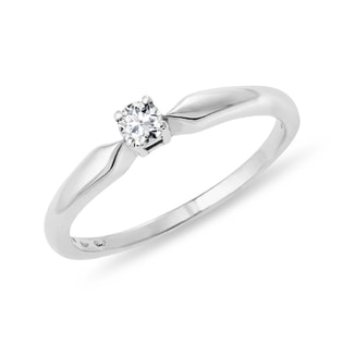STERLING SILVER DIAMOND RING - STERLING SILVER RINGS - RINGS