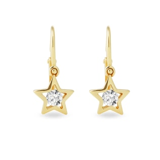 BABY DIAMOND EARRINGS IN 14KT GOLD - CHILDREN'S EARRINGS - EARRINGS