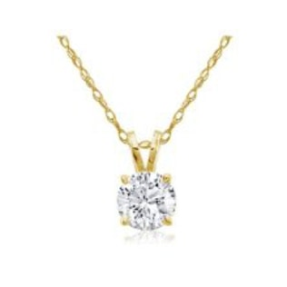 DIAMOND PENDANT IN 14KT YELLOW GOLD - DIAMOND PENDANTS - PENDANTS